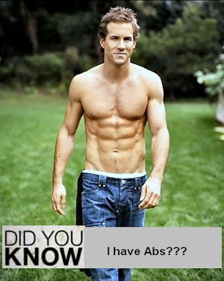 Ryan Reynolds: His middle name is Abs too!