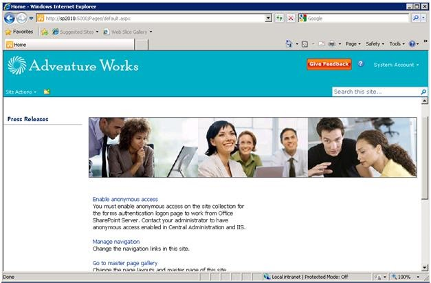 sharepoint site templates 2010