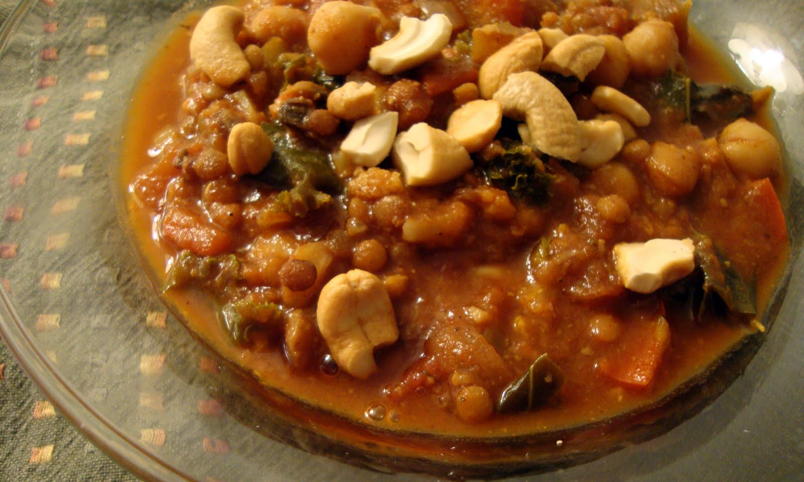 Get Real With Food: Chickpea and Lentil Chili