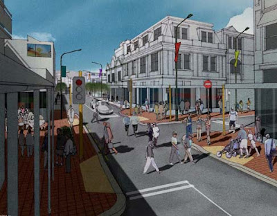 Rendering of Cuba/Ghuznee St intersection after the bypass