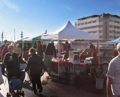 Stalls at Waitangi Park Market