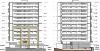 Elevations of the proposed Te Aro Towers