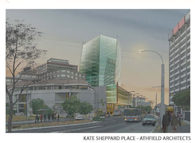 Rendering of 'Kate Sheppard Place' development