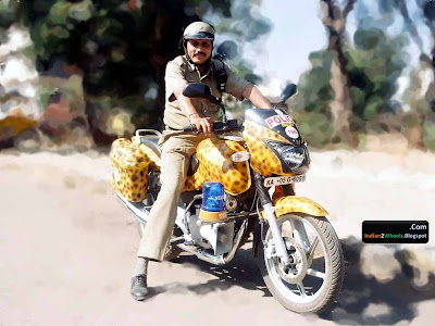 Bangalore Policeman on his Duty Bike
