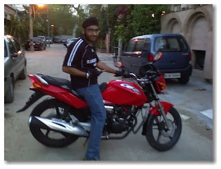 Sahib on his CBZ X