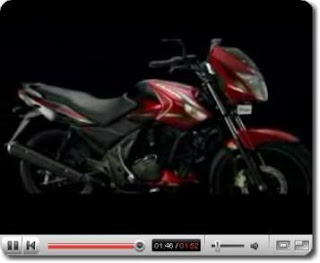 Screenshot of the Video of the 125 cc TVS Flame