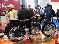 Royal Enfield Bullet STD with UCE @AutoExpo 2010