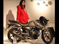 TVS Apache RTR 180 with Performance Kit @ AutoExpo 2010