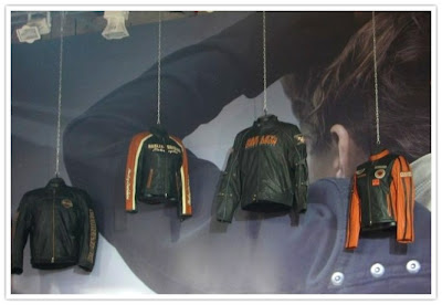 Harley Davidson Jackets on display @ Auto Expo 2010