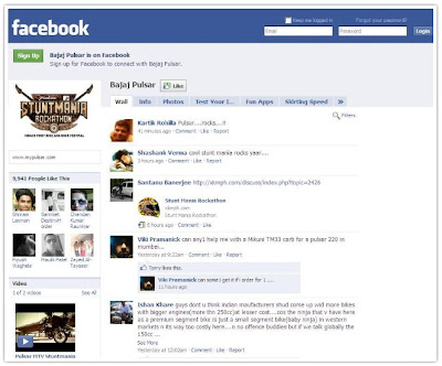 Pulsar Facebook Fanpage