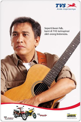 TVS Motor Indonesian Brand Ambassador, Iwan Fals