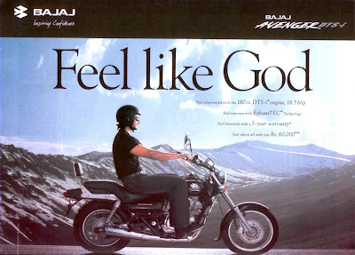 Bajaj Avenger Feel Like God Print Ad