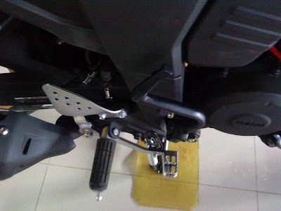 Kick Lever on the Yamaha FZ