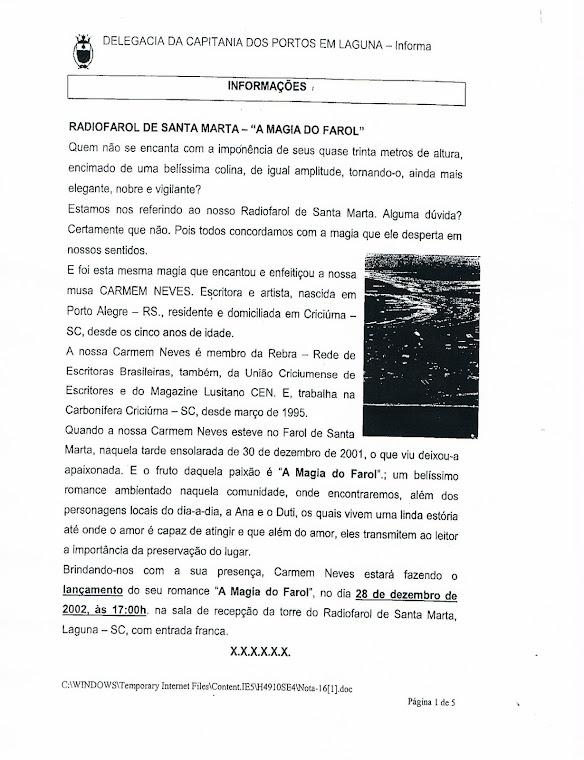 Homenagem recebida da Marinha - 2002