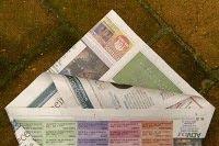 origami com jornal