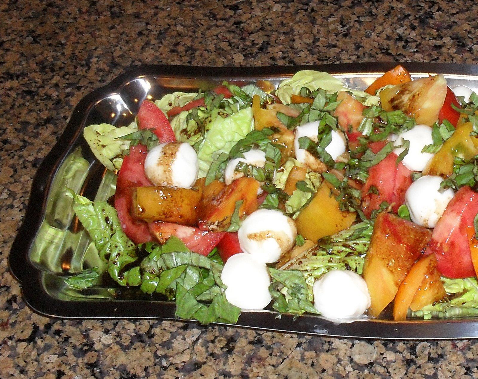Mantia's Musings: Heirloom Tomato Caprese Salad
