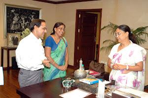 With Rajastan CM Smt Vashundra Raje