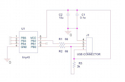 usb using attiny45