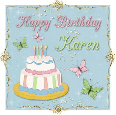happy birthday cake fancy karen