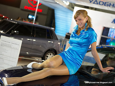 Pantyhose Up Skirts Motor Show Model