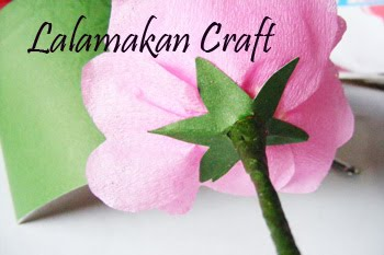 Tutorial Membuat Bunga Rose dari Kertas Krep