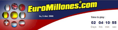 EuroMillones Website Banner
