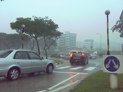 Yio Chu Kang Road Morning Rain