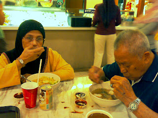 Parents Enjoying Yong Tau Foo At Banquet Woodlands