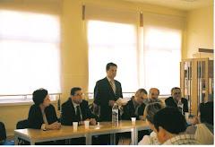 Tomada posse presidente Federação Associações Pais em 2004
