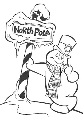 childrens coloring pages snowman free - photo#45