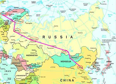 transsibiriske jernbane tid