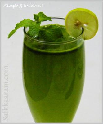 ingredients mint pudina leaves 15 lemon juice 1 lemon sugar