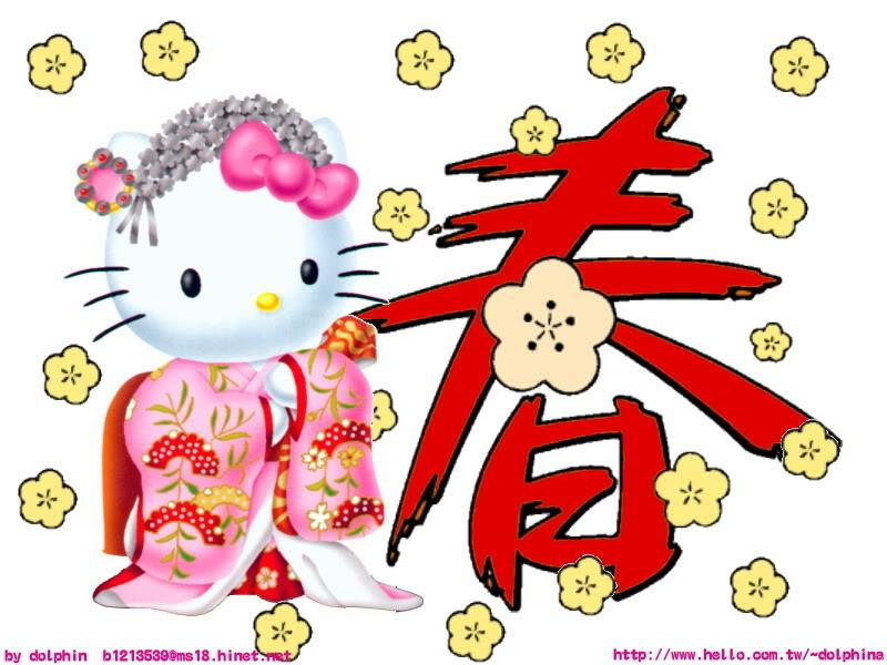 Hello kitty wallpapers hello kitty spring wallpapers