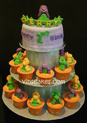 Barney Birthday Cake on Vin S Cakes   Birthday Cake   Cupcake   Wedding Cupcake   Bandung