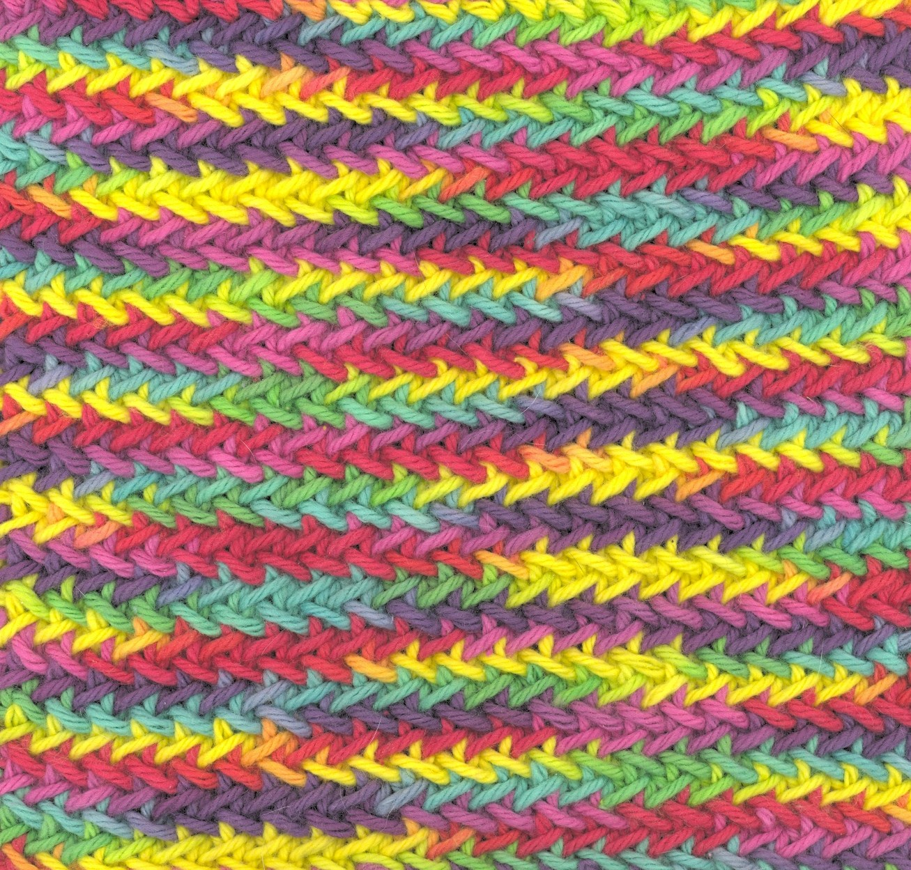 Knitting Yarn Over Before Purl Stitch : Sara s colorwave herringbone stitch dishcloth