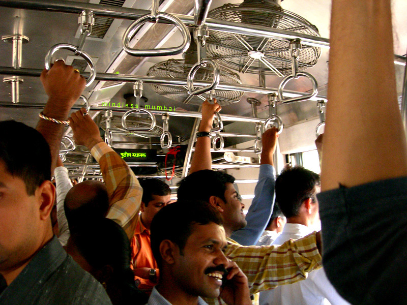 mumbai local train interior by kunal bhatia