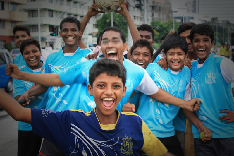 Local Football team at Marine Drive in Mumbai by Kunal Bhatia