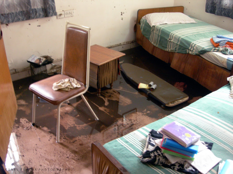 interior of a flooded house post disaster in mumbai by kunal bhatia