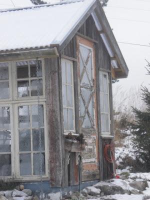 Veksthus av gamle vinduer