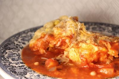 Le Petit Pierogi: Chili with Cornbread Dumplings