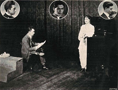 Illustrator James Montgomery Flagg, who witnessed the Carnegie Hall tone test, sketches Anna Case after the show.