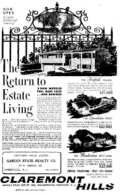 Claremont Hills ad, June 1962
