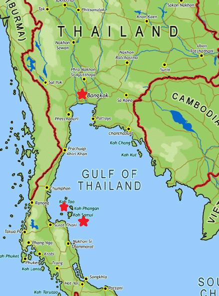 Koh Phangan Karte Thailand hanzeontwerpfabriek