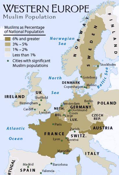 Muslim world population of muslims percentage in countries cities muslims in europe country wise population and percentage gumiabroncs Gallery