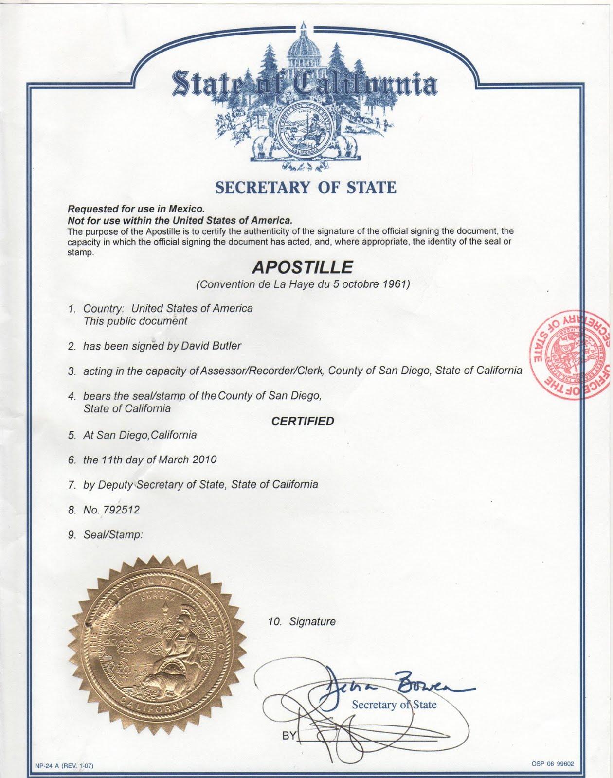 Magnífico Plantilla De Certificado De Nacimiento De California ...