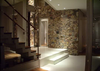 interior of the house of stone walls