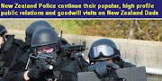 NZ Police continue their popular,high profile public relations and goodwill visits on kiwi Dads!