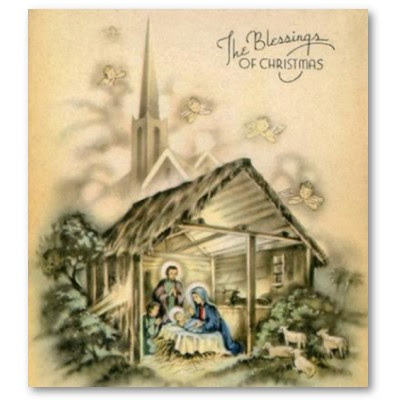 A Vintage Chic Beautiful Nativity SetsVintage Paper
