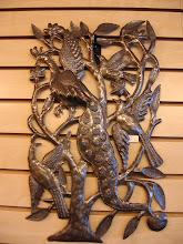 Birds cut metal art by Serge Jolimeau
