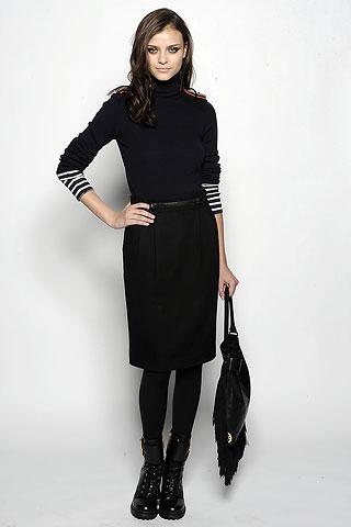 Vestido de manga corta en invierno